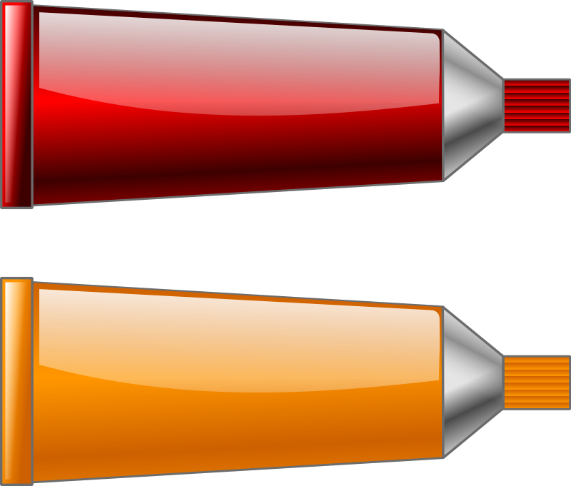 Color tube RedOrange by TrnsltLife - Colored tubes of paint