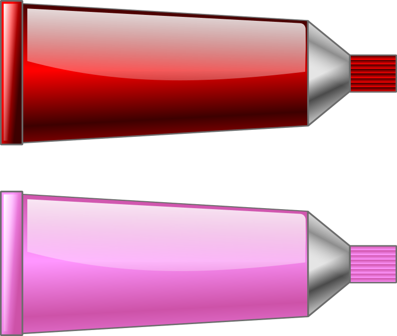Color tube RedPink by TrnsltLife - Colored tubes of paint