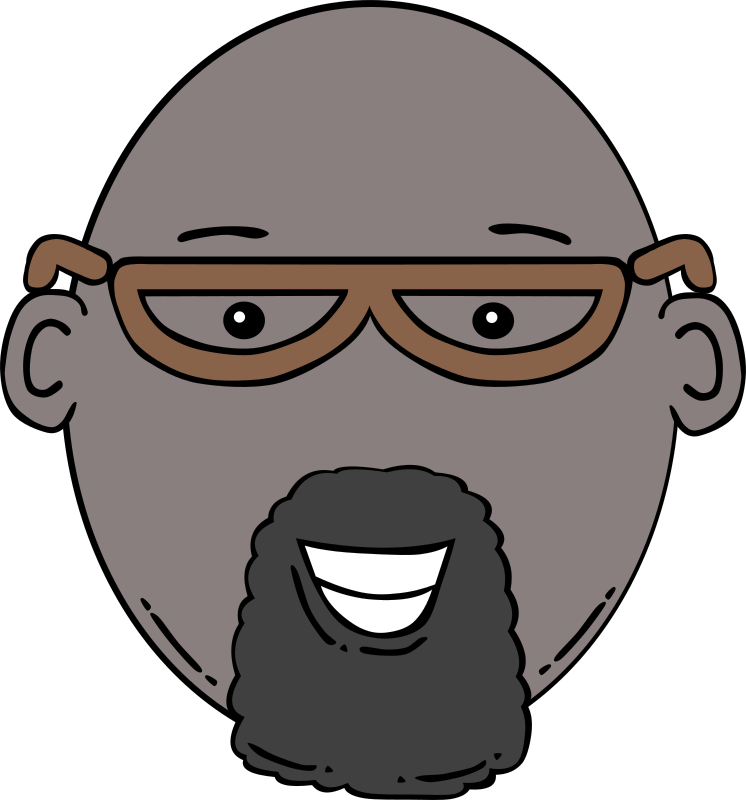 "Man Face Cartoon by Gerald_G - Uploaded by ""World Label"" for conversion to SVG and publication on OCAL."
