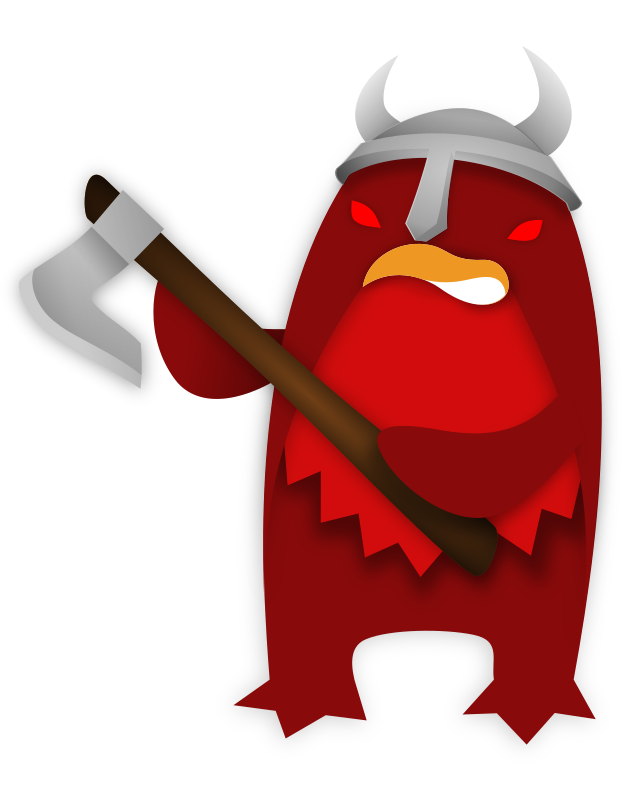 Korora_viking by isacvale - A little penguin (Eudyptula minor, or korora in maori), red in anger and ready for scandinavian mayhem.
