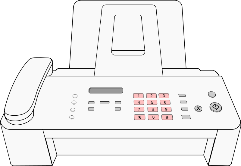 Modern Fax Machine by MatthewHenninger - Drawing of a more modern fax machine.