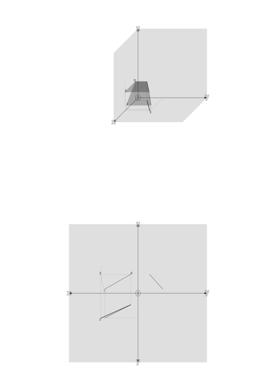 True Length of a Line by Rotating its Projection  by ric5sch - True Length of a Line by Rotating its Projection -- wahre Länge einer Strecke in der Grundrißebene durch prarallel drehen in der Aufrißebene