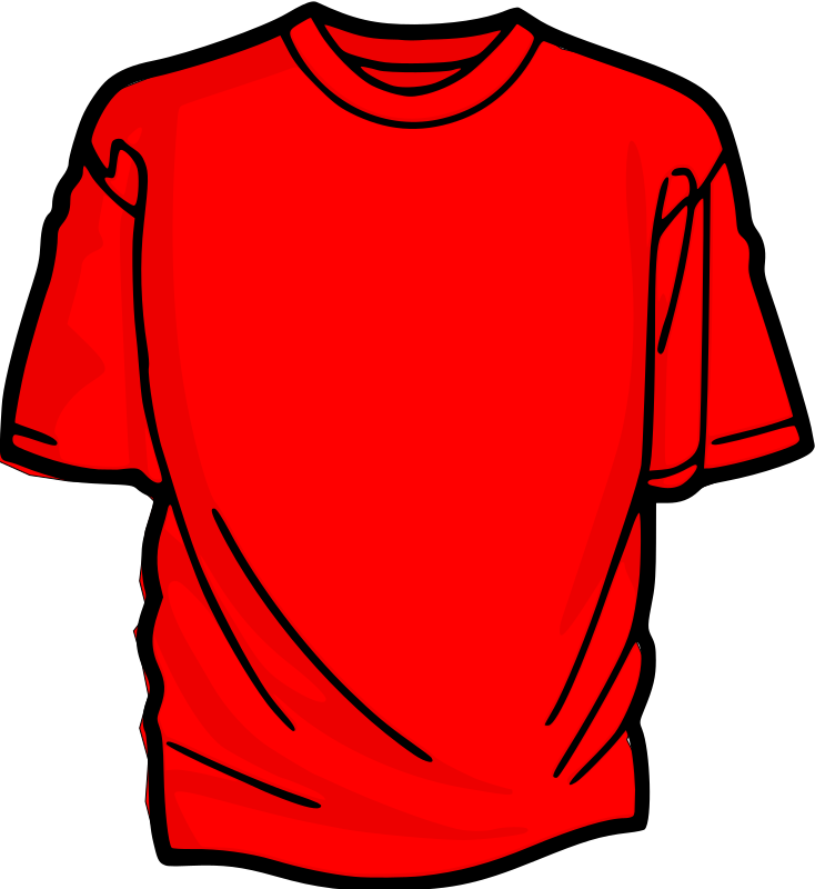 Clipart T Shirt Red