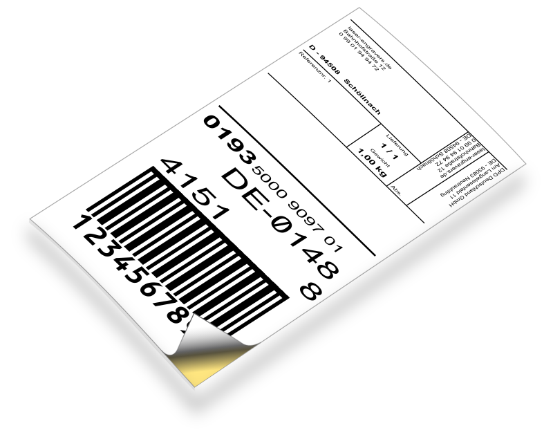 Barcode-Label by laser_engravers - Shippinglabel