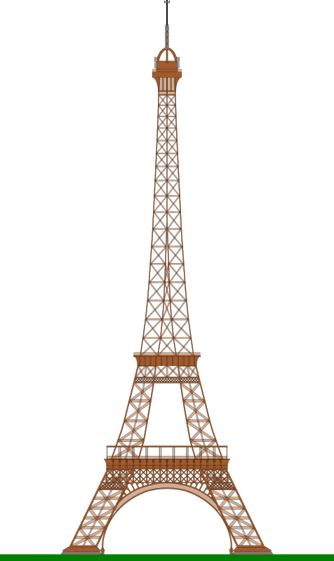 Eiffel Tower (Paris) by ajaborsk - A side view of the famous Paris Eiffel Tower