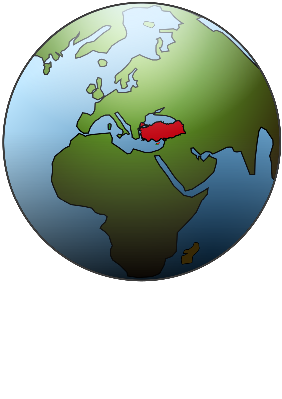 Clipart - Globe (Turkey)