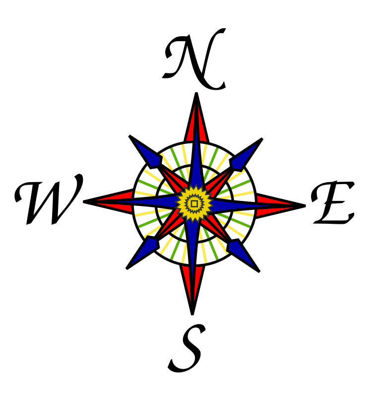 Compass rose by freedo - A traditional compass rose.