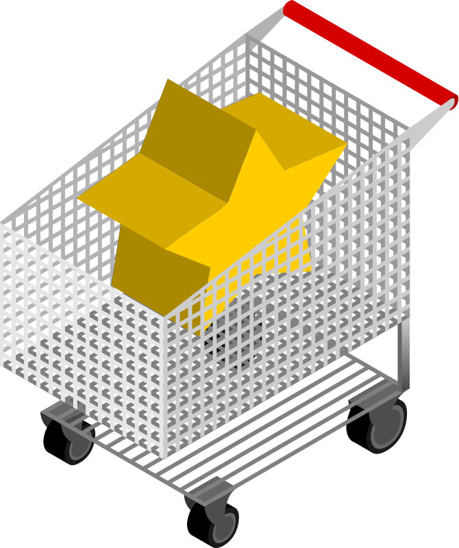 CM Isometric Shopping Cart by depizol - Part of the Coffeemachine's Isometric Set