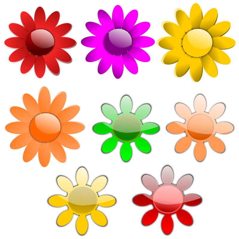 Vector Flowers by inky2010