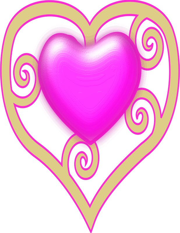 princess crown heart by remixer - A pink princess crown. I remixed pixabella_Valentine_Red_Maori_Heart.svg as the crown gems