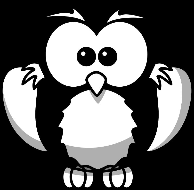 Owl line art by gammillian for Cartoon owl sketch