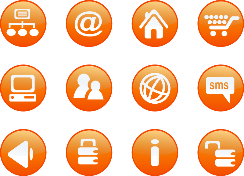 icons orange web candy by shokunin - set of orange candy web 2.0 icons. Each icon is unique.
