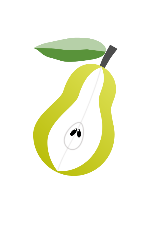 Pear fruit by VasanthKaje - A pear cut through in the middle.