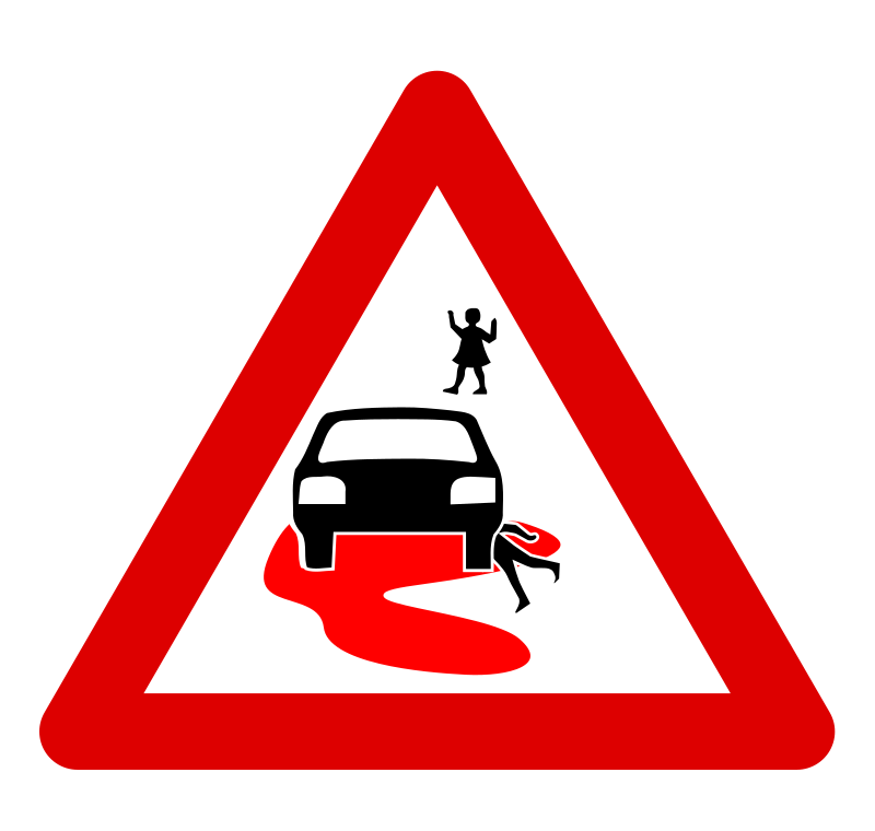 speed kills mutrax by mutrax - A roadsign I designed to make the neighbours aware of the dangers of speeding in narrow streets where a lot of children play... I realize it's a bit chocking, but it gets the message there. I based this upon Pommi_Traffic_Sign.svg and ryanlerch_children_crossing_road_sign.svg