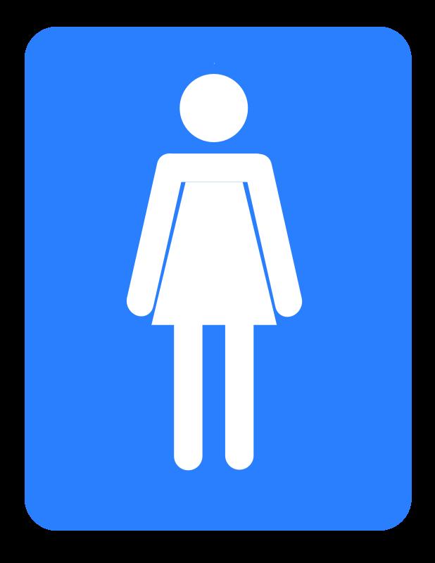 Clipart Women Bathroom
