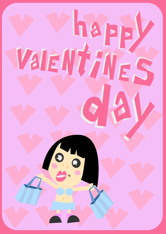 Happy Valentines Day Card by shokunin - cute pinkish valentines card