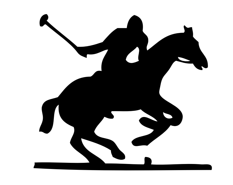 polo pony by johnny_automatic - Polo player outline.