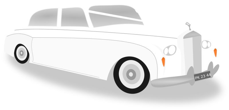 Wedding car by wakro - A photorealistic  wedding limousine.