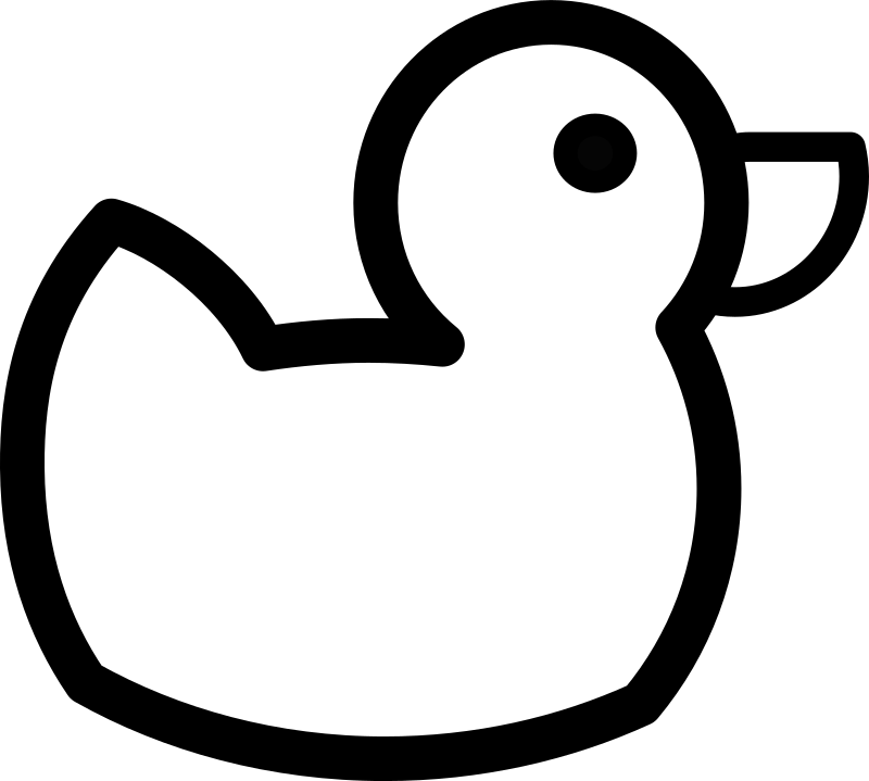Duck Outline by gammillian - Duck Outline.