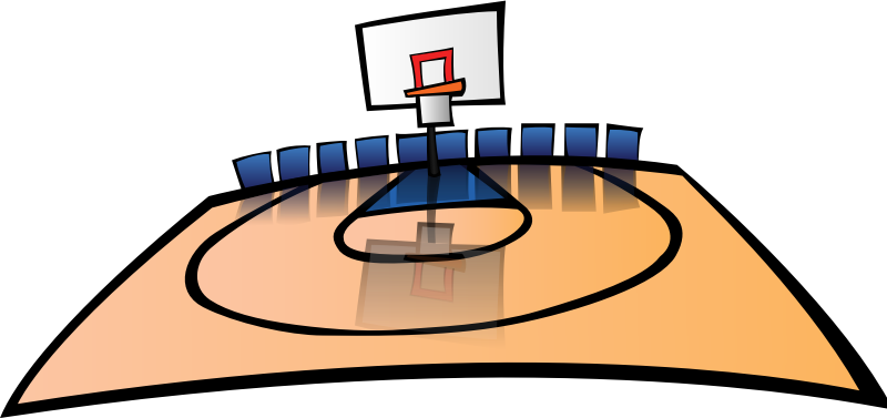 Basketball Court by pianoBrad - A basketball court, created for the Sports 2010 Clip Art Package Release.