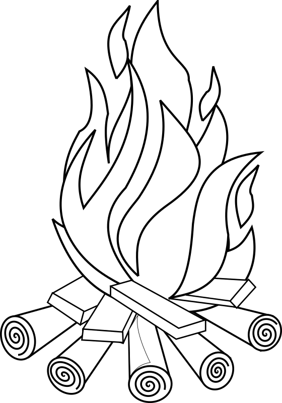 Fire Line Art by gammillian - Camp fire line art.