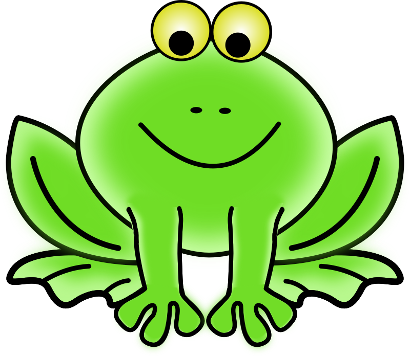 Frog by gammillian - Green frog line art.