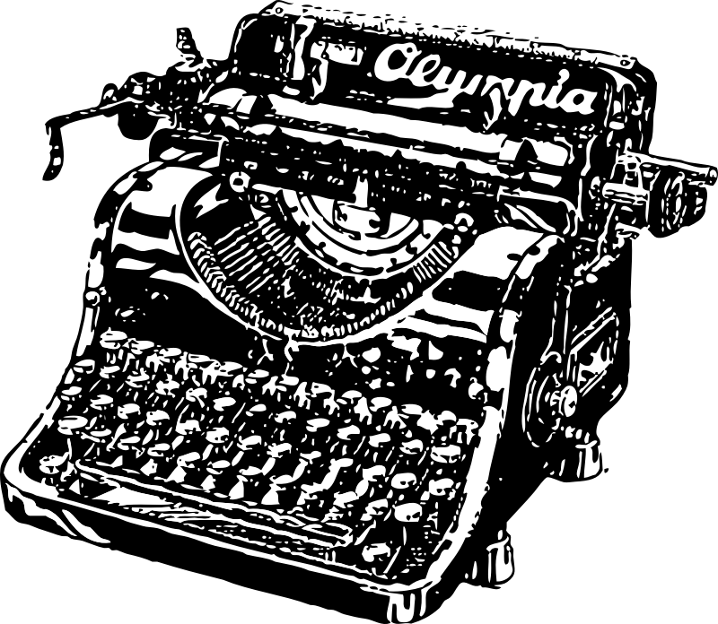 typewriter by johnny_automatic - Old typewriter in black and white.