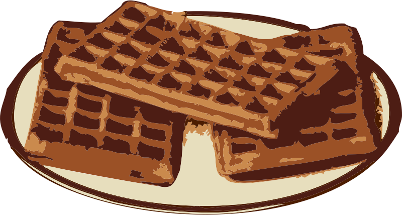 waffles by johnny_automatic - Waffles in a plate.