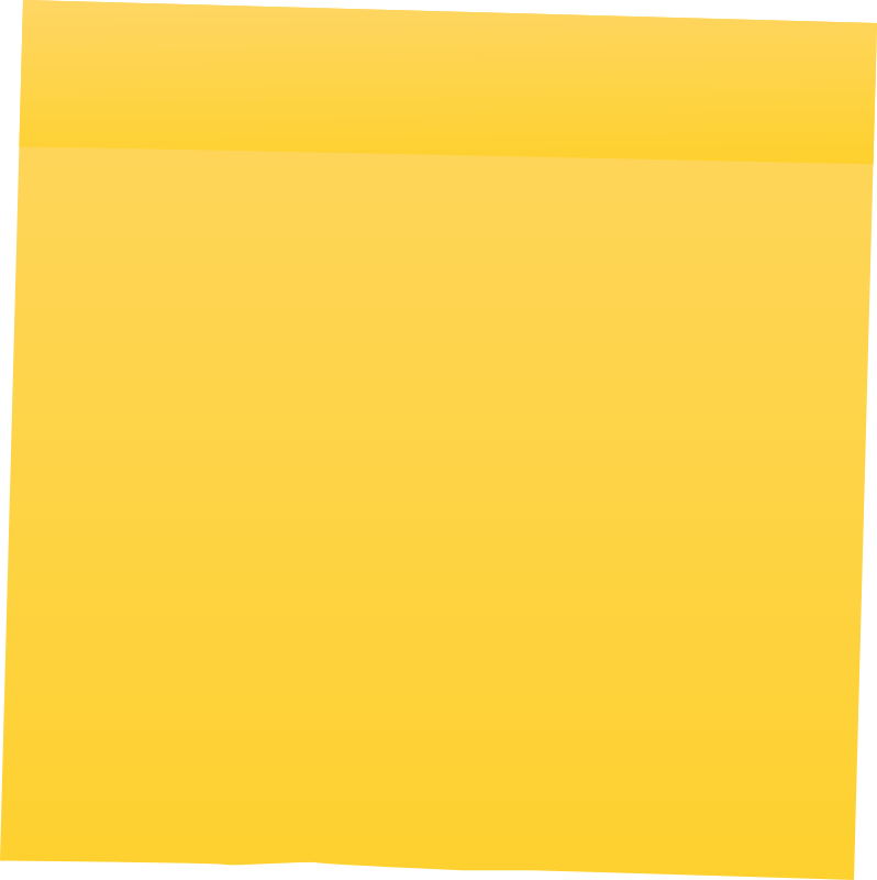 Yellow Post It Note by shokunin
