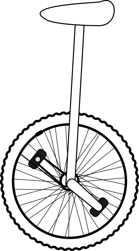 Unicycle Line Art by gammillian - Unicycle Line Art.