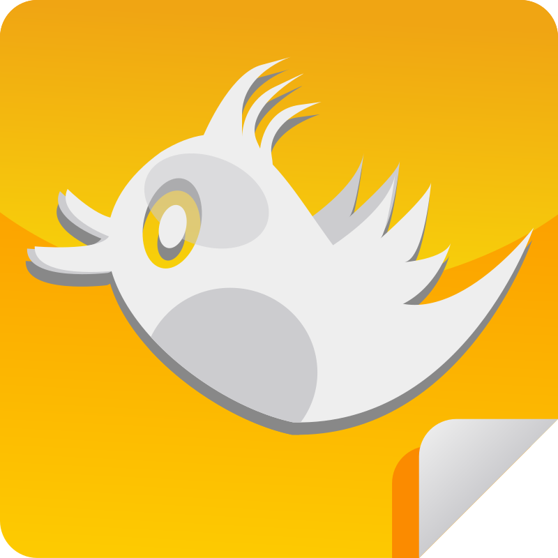 Orange Bird Icon  by shokunin - orange tweet icon.