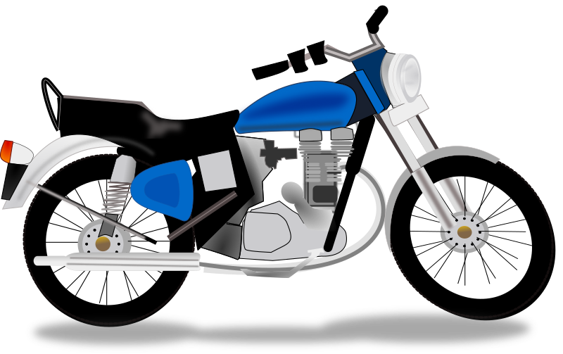 royal motorcycle by netalloy - automotive clipart by NetAlloy