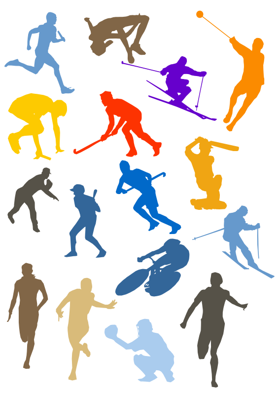 Silhouette Sport Disciplines Set by shokunin