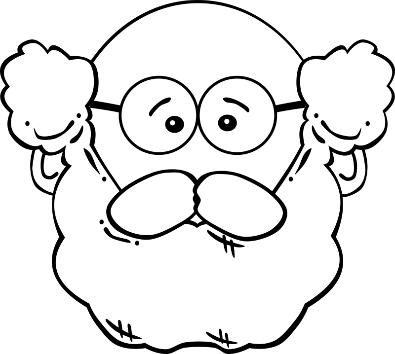 G Man Face 1 - World Label 1 by Gerald_G - old mans face with glasses and beard