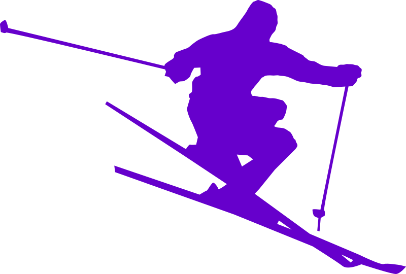 skii by shokunin - Part of set of Silhouettes based on sports, in a nice vibrant colours of Ubuntu palette in Inkscape.