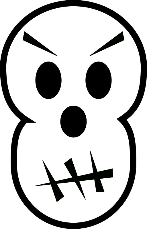 Angry skull by laobc - A simple angry skull. Caveira irritada.