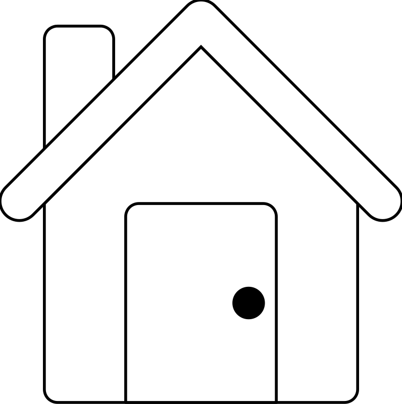 Line Art House : Clipart house line art