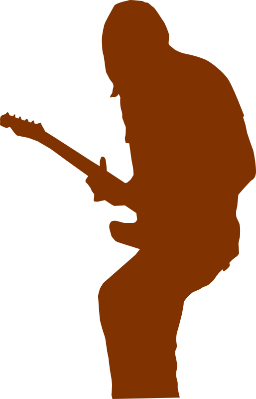 guitarist by shokunin - Separated entry of my collection-set of silhouettes. Check my other clip art.