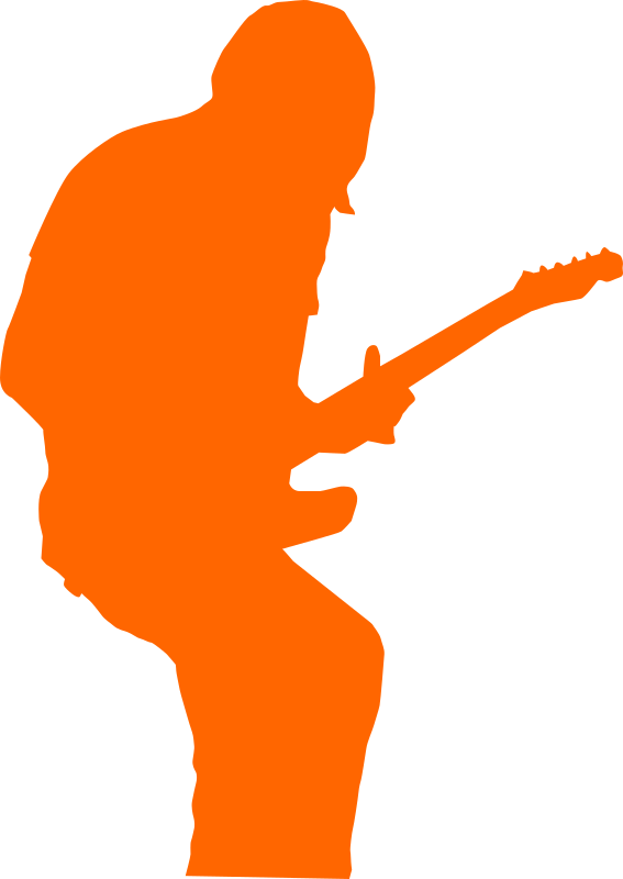 guitarist-rock by shokunin - Separated entry of my collection-set of silhouettes. Check my other clip art.