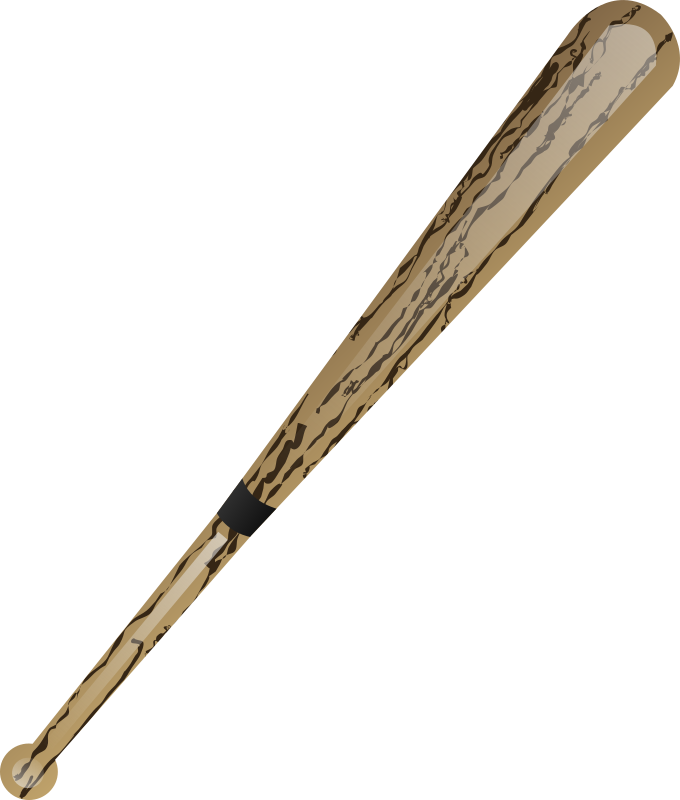 Baseball bat by shokunin - baseball bat made using my wooden texture