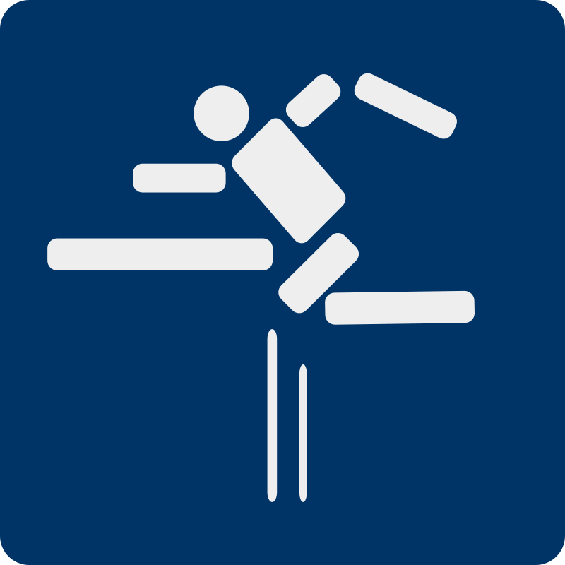 fence jumping pictogram by shokunin