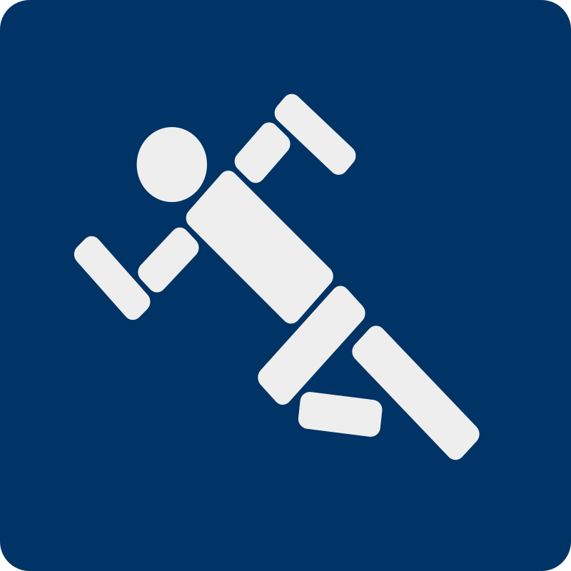 running pictogram by shokunin