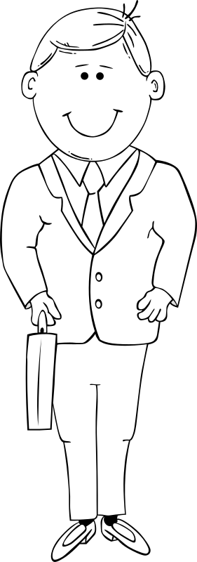 G Man in Suit 2 by Gerald_G - outline, full body, boy in suit