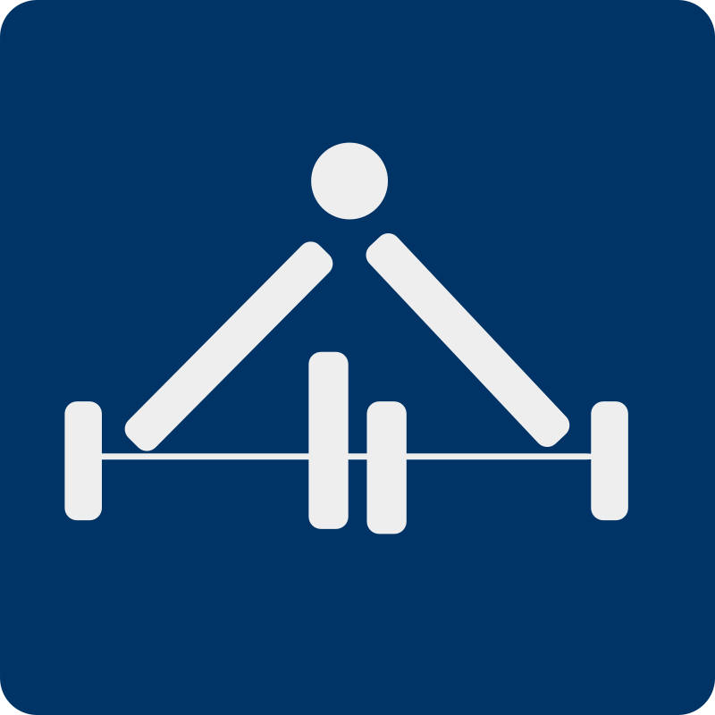 weight lifting pictogram by shokunin - Separate entries of sport pictogram from my set