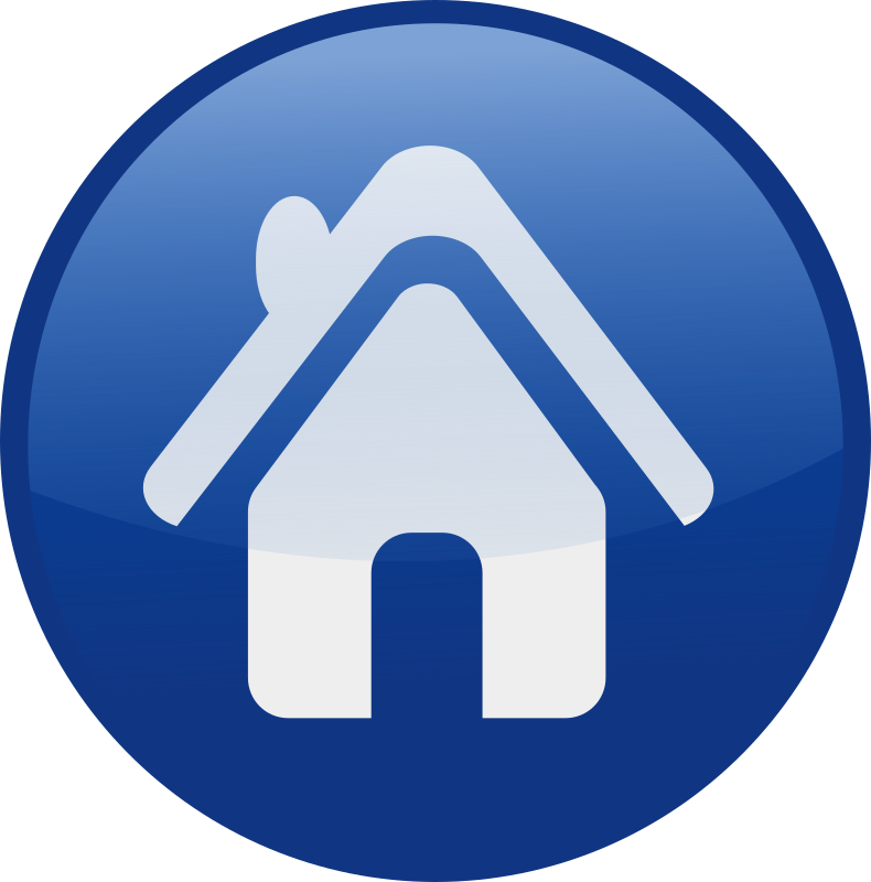 house-blue by shokunin - Single web 2.0  icons from my set. check the whole set in my clip art if you want get all of it together.