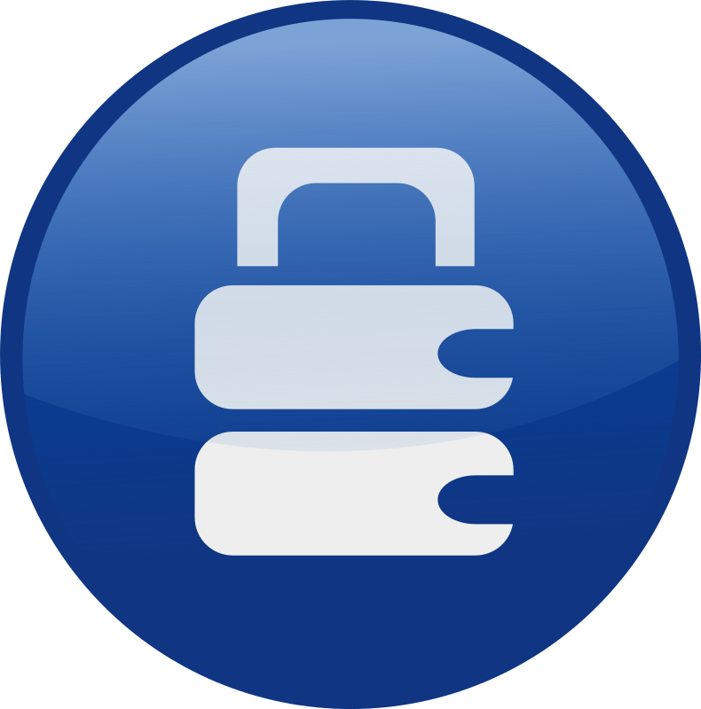 locked-blue by shokunin - Single web 2.0  icons from my set. check the whole set in my clip art if you want get all of it together.