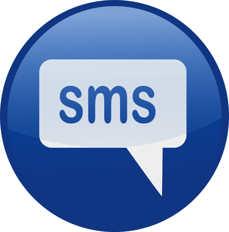 sms-blue by shokunin - Single web 2.0  icons from my set. check the whole set in my clip art if you want get all of it together.