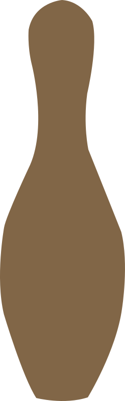 bowling pin brown by shokunin