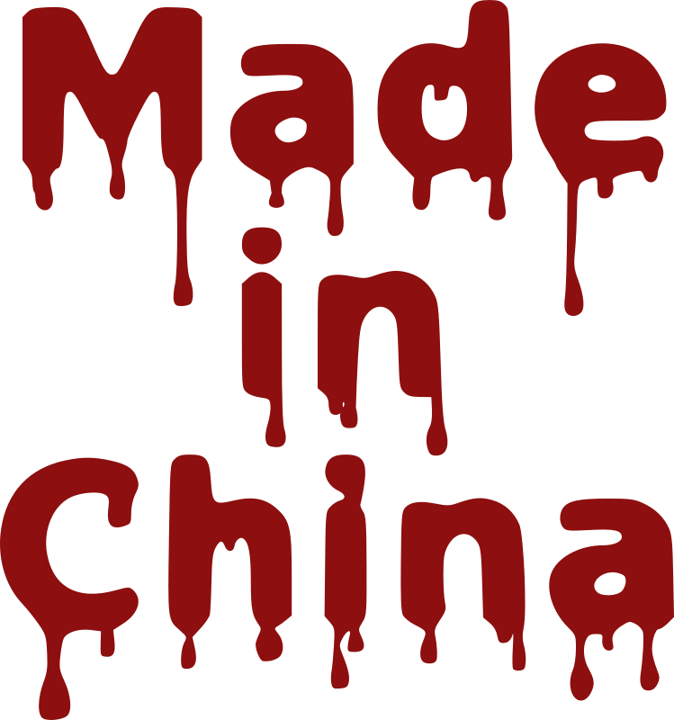 "Made In China by iolco51 - Bloody melting ""Made In China"" text sticker."