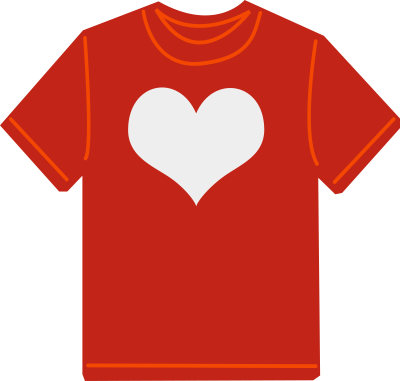 Red T-shirt by shokunin - red t-shirt with white heart